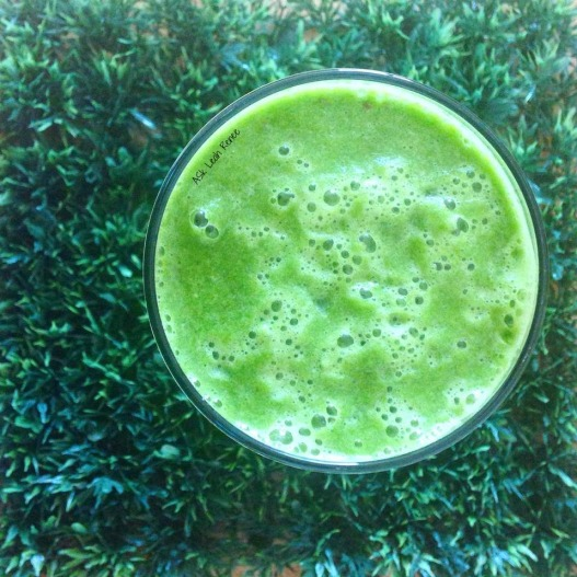 green juice on green grass