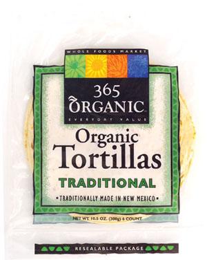 organic corn tortillas