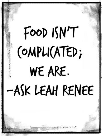 FOOD ISN'T COMPLICATED