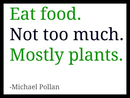 eat food not too much