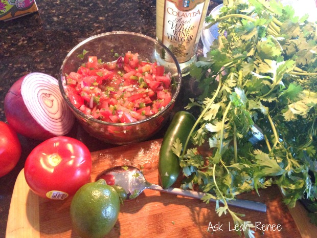 pico de gallo in progress