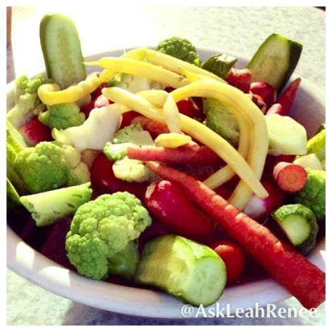 veggie crudite at TFK